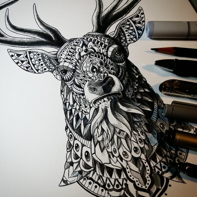 02-Buck-Ben-Kwok-Ornate-and-Intricate-Animal-Drawings-www-designstack-co