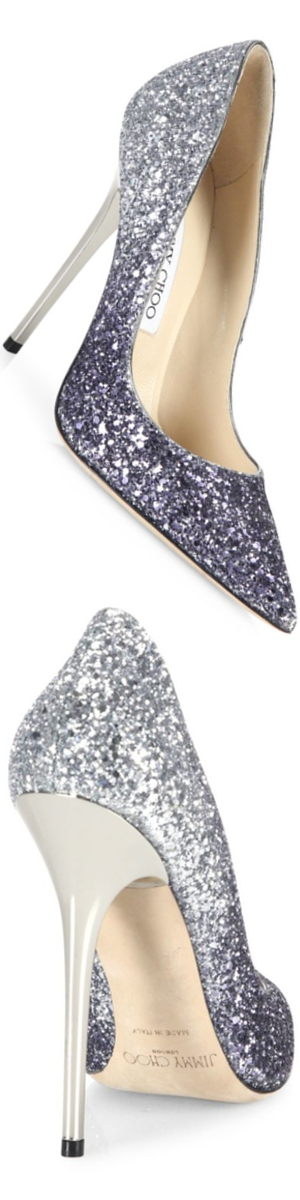 Jimmy Choo Glitter Degrade Point-Toe Pumps