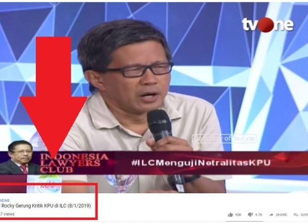 Kalahkan Artis Rp80 Juta, Kritik Pedas Rocky Gerung ke KPU Jadi Trending di Youtube