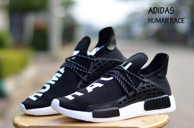 ADIDAS X PHARRELL PW HUMAN RACE NMD 5 12 BLACK WHITE