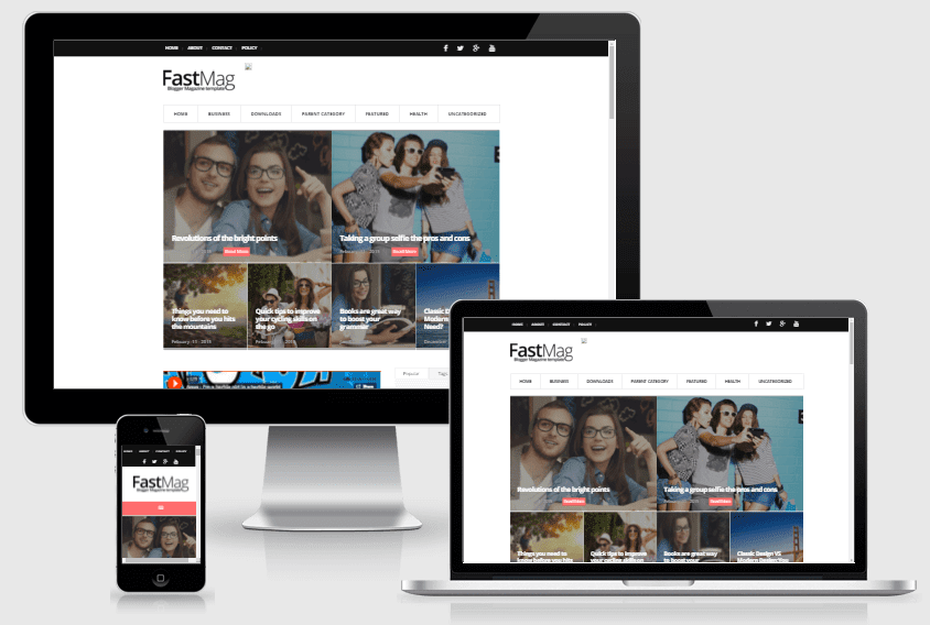 Fast Mag - Responsive Magazine Blogger Template