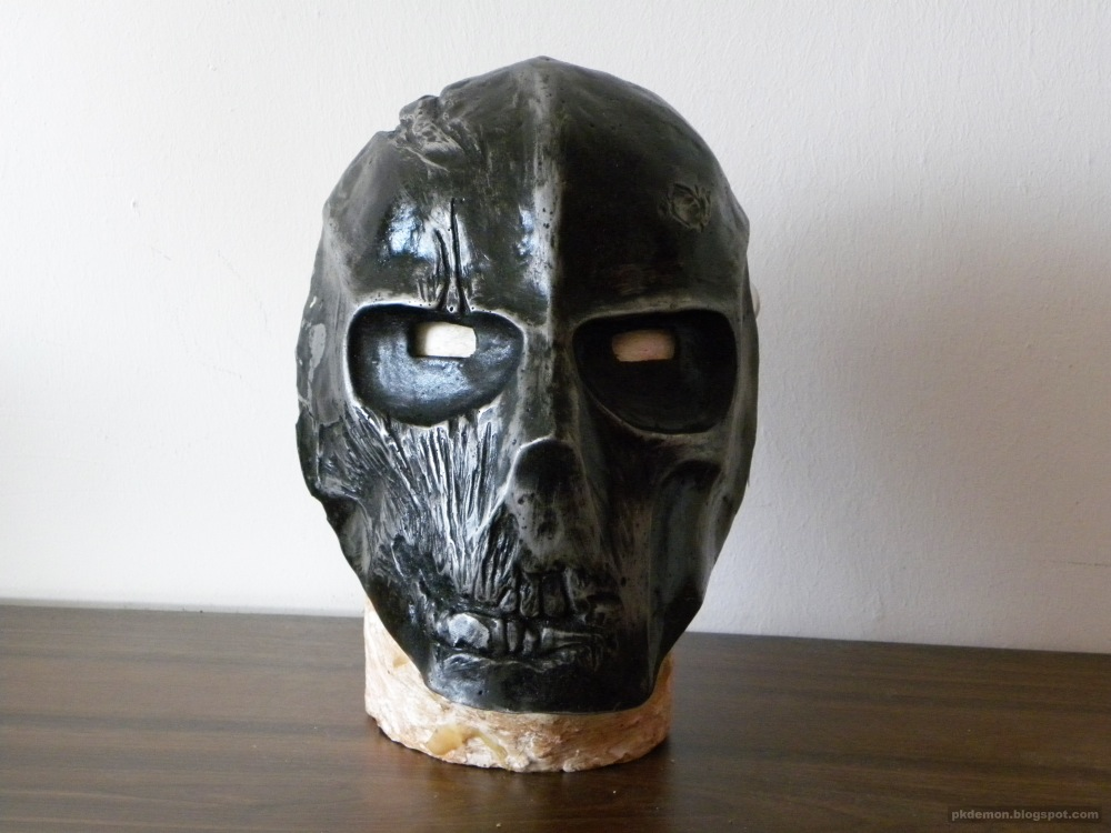 pkDemon Creations: Army of Two Rios mask black metal