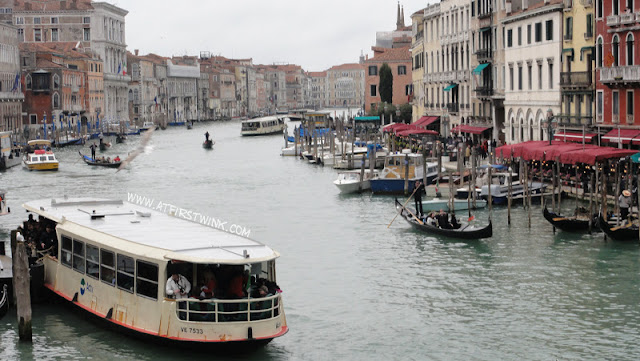 view from the Rialto bridge in Venice