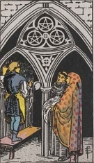 The Three of Pentacles, RWS