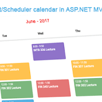 CRUD operation on fullcalendar in ASP NET MVC | DotNet - awesome