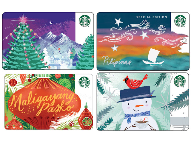 Starbucks Featured Cards for Christmas