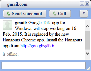 Disable Google Hangouts Chrome