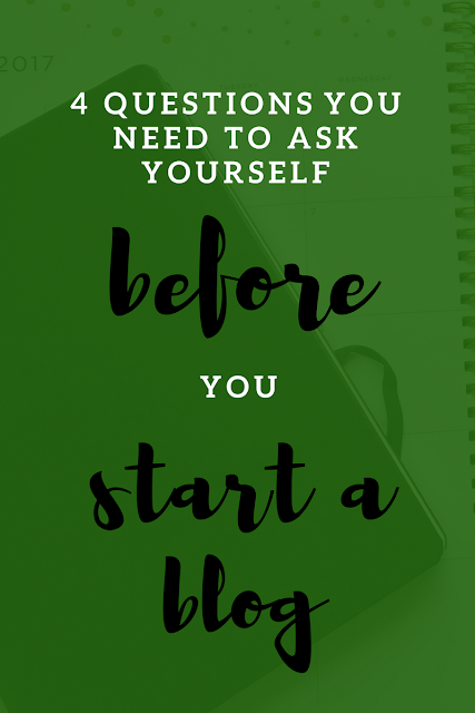 4 Questions To Ask Yourself Before You Start A Blog