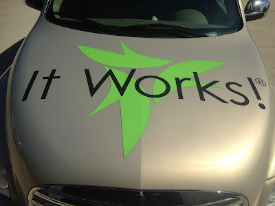 It Works! Vinyl Decals on the Hood | Banners.com