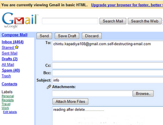 How Hacker send Self-destructing email to Victim (also find