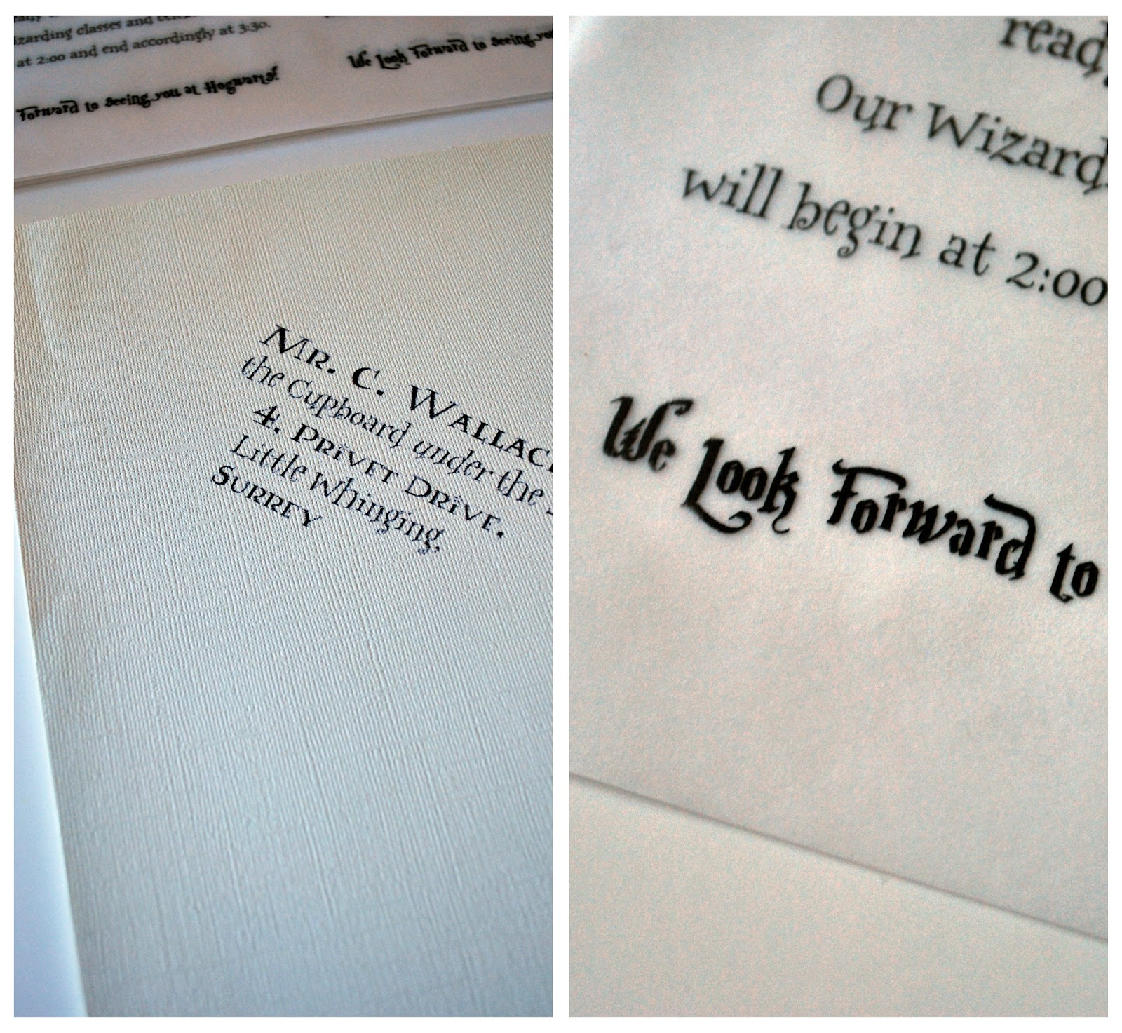 """Harry Potter birthday invites by """"Just another day in ..."""