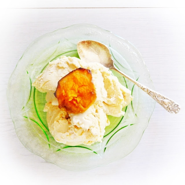 no churn roasted sweet potato ice cream