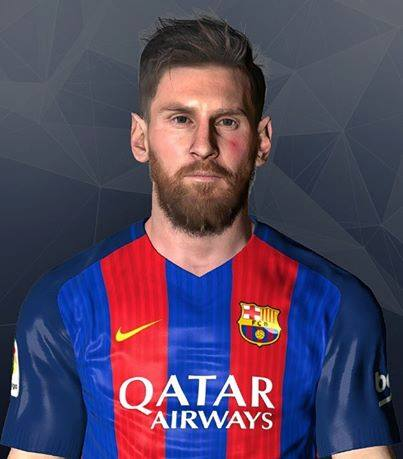 PES 2017 Messi Face by LR7_Face