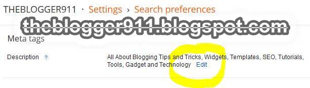 How To Add Meta Description to Blogger using Blogger Settings