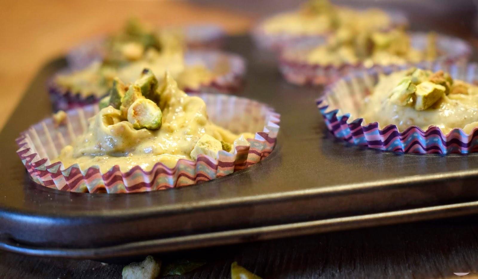 magdalenas de pistacho receta