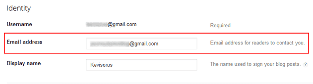 edit email address
