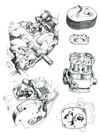 DKW UR / SS 250 engine cutaway