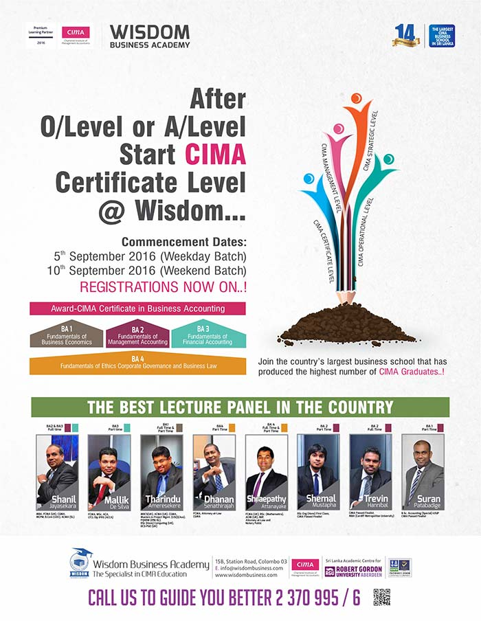 After A/L's join the country's largest CIMA business school