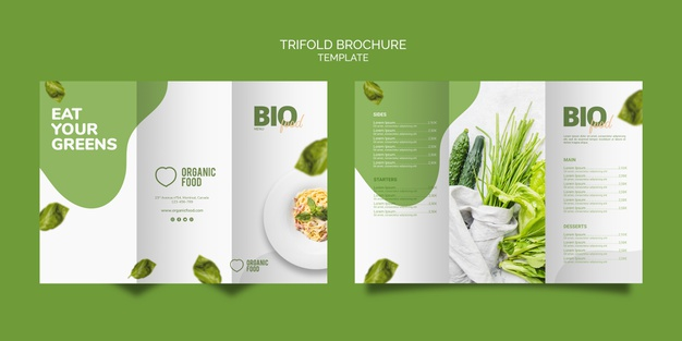 food trifold brochure template Free Psd