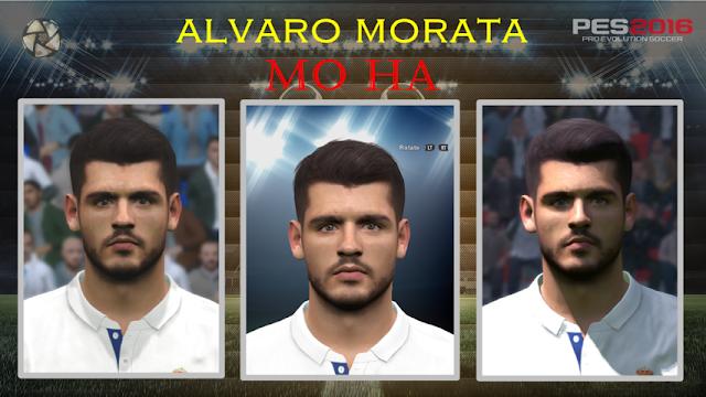 PES 2016 Álvaro Morata Face