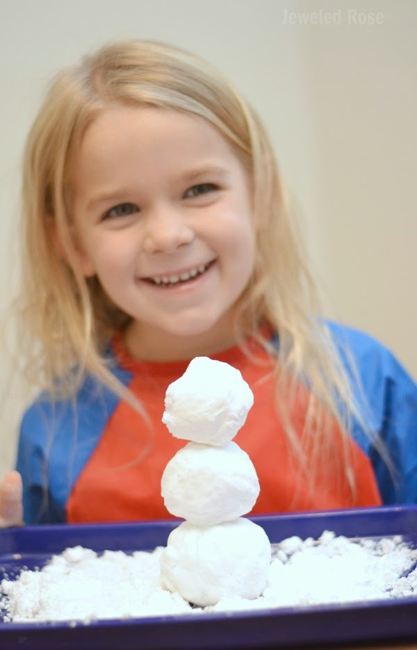 2-INGREDIENT FOAMING SNOW- a must try for kids!