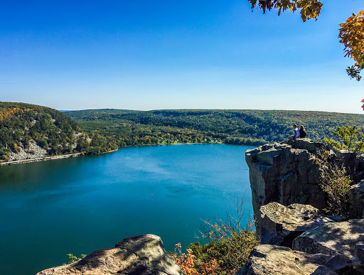 Prospect Point on the West Bluff Trail at Devils Lake State Park