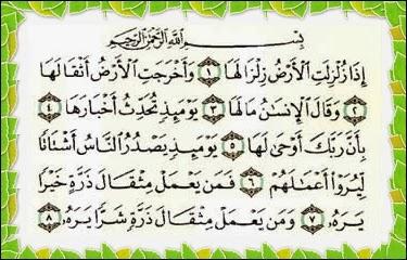 Image result for surah al zalzalah tafsir