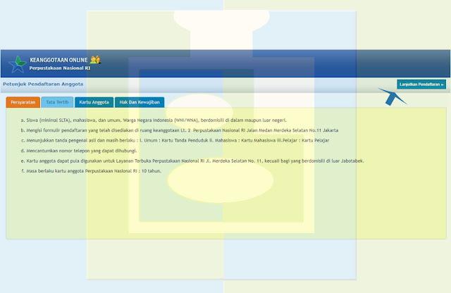 Petunjuk Pendaftaran Anggota Perpustakaan Nasional - udibaracom