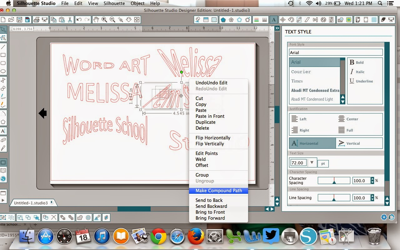 Word art, Silhouette Studio, Silhouette tutorial, make compound path
