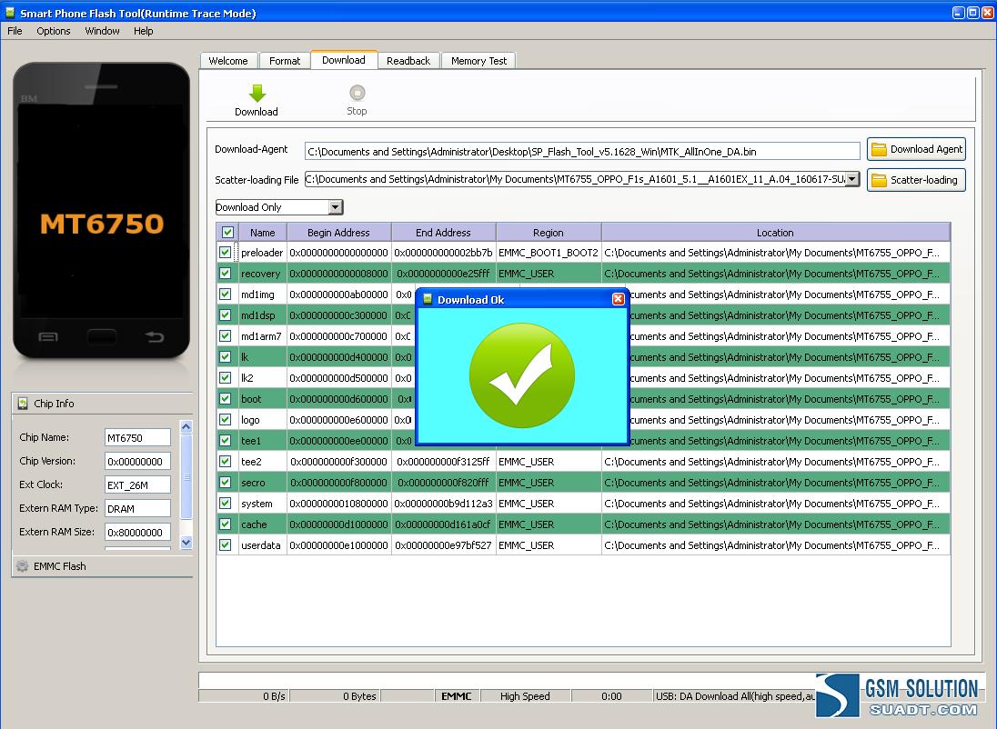 Rom office Oppo F1s A1601 [MT6755 ][SP Flash Tool] ~ Custom