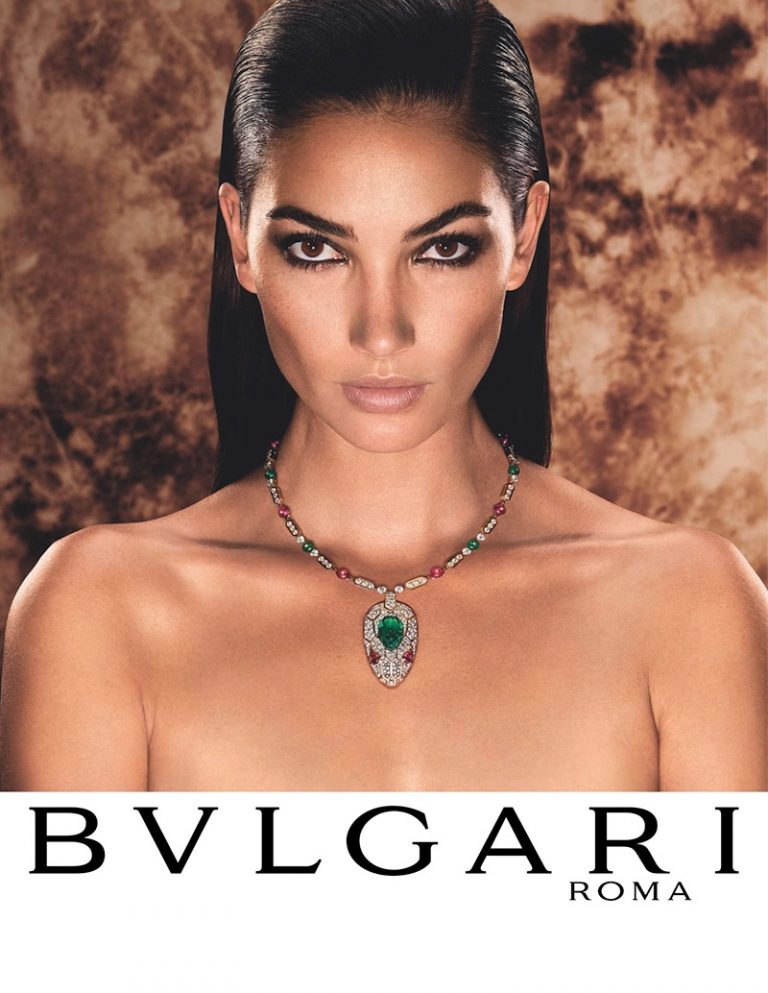Lily Aldridge Dazzles in Bulgari Serpenti Campaign