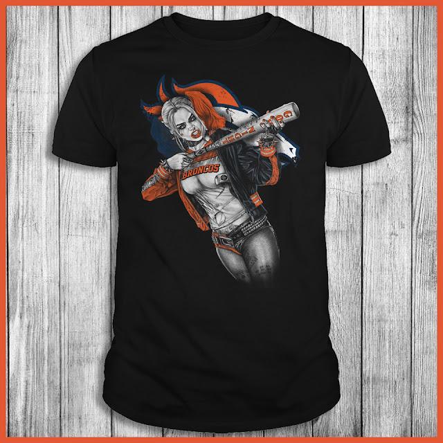 Denver Broncos Harley Quinn T-Shirt