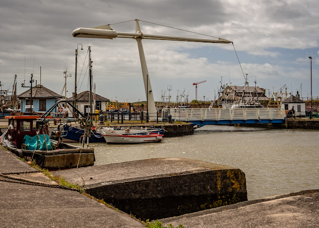 Photo of the Ellenfoot Bridge at Maryport Harbour at high tide