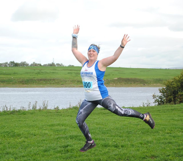 Summer Training Recap : Keeping The Miles In My Legs - leaping photo from Ribble Way 10k Trail Run
