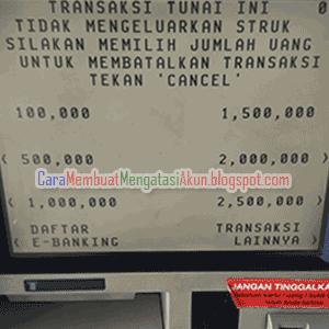 contoh cara mengambil uang di atm bca