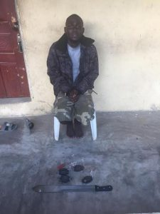 Photo: Police arrest notorious pipeline vandal in Bayelsa State