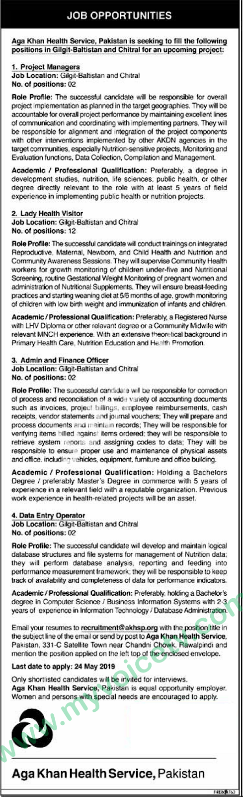 ➨ #Jobs - #Career_Opportunities - #Jobs - Aga Khan Health Services Pakistan for Gilgit and Chitral Region – for application visit the link