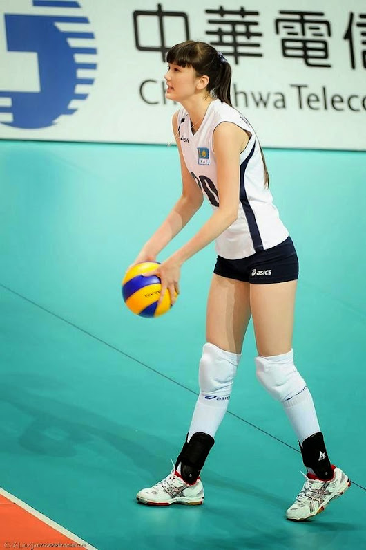 Sabina Altynbekova Volley Player from Kazakhstan. Have a natural beauty and super model body!!