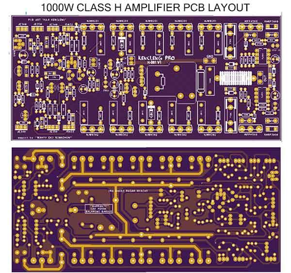 1000 Watts Power Amplifier Pcb Layout