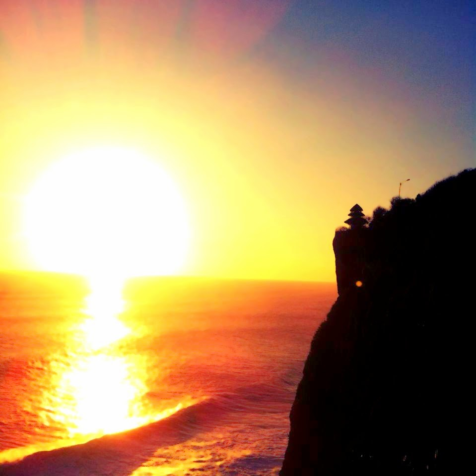 Beautiful sunset in Uluwatu Bali Indonesia