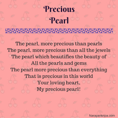 Text Image for poem 'Precious Pearl'
