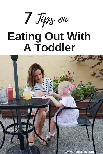 tips on eating out with a toddler, tips on going out to eat with a toddler, tips on eating out in a restaurant with kids