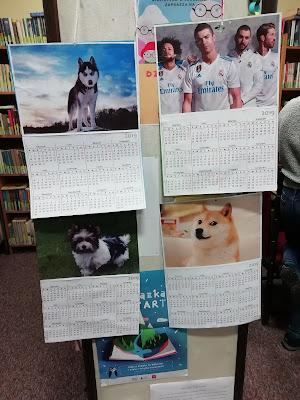 Na zdjęciu kalendarze wykonane na zajęciach