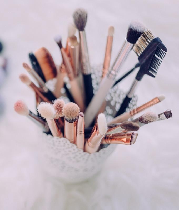 Pinceis de maquiagem ficam mais limpos com bicarbonato de sódio