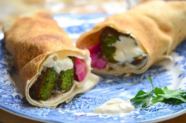 Fresh Herb Falafel Pita Wrap
