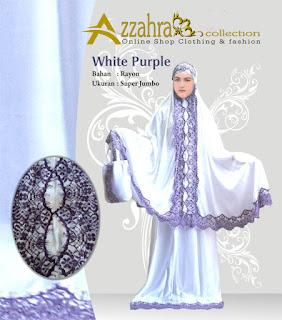 Gambar Mukena Bali Azzahra  Renda Purple