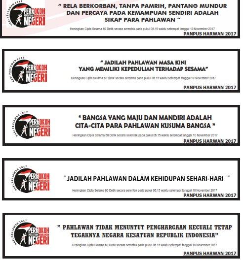 Kumpulan Slogan Hari Pahlawan 2017