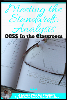 Do you need help addressing the CCSS or any state or national standards in your classroom. Start with How to teach Common Core Standard 1 in the Social Studies classroom to learn how to teach analysis of primary and secondary sources, and then link to learn strategies and lessons that will help you implement all the rest. Great to help middle and high school teachers with building lessons. #iteach678 #iteachhs #teaching #CCSS #standards #summary