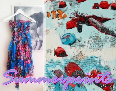 Summerprints 2013: flowers & fish