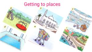 درس Getting of places في اللغة الانجليزية للصف الثالث الفصل الاول